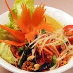 コン・ムアン - 青パパイヤのサラダ(ソムタム)