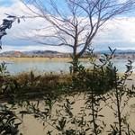 オステリアチエロアルト - 窓から見える瀬田川