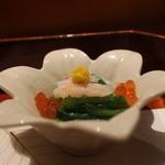 日本料理 きた山 - お通し、いくらとカニ