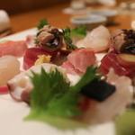 日本料理 きた山 - 刺身盛り合わせ