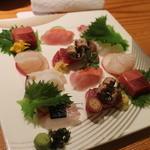 日本料理 きた山 - 刺身盛り合わせ全景
