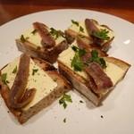 TRATTORIA Linea 7 - 発酵バターとアンチョビのクロスティーニ
