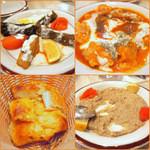 Niaribaba - キャベツの肉ライス詰め 700円、マントゥ(餃子) 950円、エキメッキ(パン)、ひよこ豆のペースト650 円