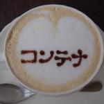 コンテナ カフェ&バー - キャラメルラテ*店名描いてもらいました(´∀`)♡
