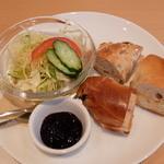 M.s CAFE 浜大津 - サラダとベーグル(モーニングベーグルセット)