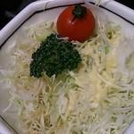とんかつ やまと - 「丼(どんぶり)ランチ」(741円+税)のサラダ