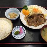 すぎ原 - 豚生姜焼き定食
