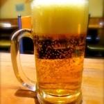 VERDE - 3杯目ビール わぁ〜今度は泡が多いってば……。