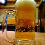VERDE - 2杯目ビール ちょっと! 泡少ないよ〜〜〜。