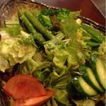 鉄板焼レストラン かほり - 料理写真:グリーンサラダ