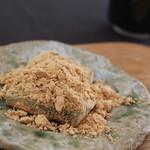 神宗 - デザートは自家製のワラビモチ 黒蜜をかけていただきます