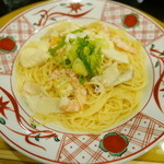 先斗入ル - 海老とズワイガニと湯葉の京風クリームソース(1100円)