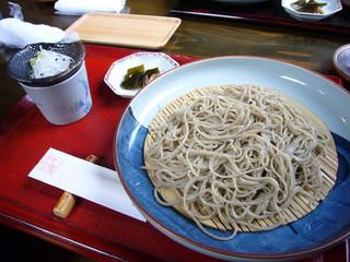四季の里 蕎麦 季里 - ざるそば・・・濃厚な蕎麦湯が印象的でした