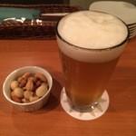ビールバー クラウド - 東京ホワイト+お通し