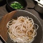 河内鴨と旬菜 雅庵 - アグー豚の脂のお出汁でゴマ素麺を♪