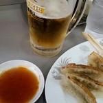 大養軒 - 餃ビー最高!