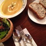 36165645 - ブレッド、スープ、サラダ♡