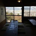 大久保茶屋 - 店内からは福井市内一望。