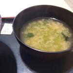 九十九里片貝波乗り食堂 - 味噌汁