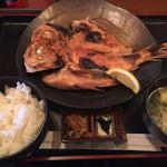 松よし - 金目鯛の開き定食1280円☆うっまーい!