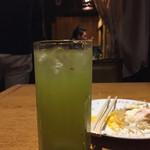 げんこつらぅめん 屋台や - 緑茶ハイ