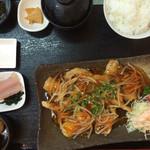 魚屋直営食堂 魚まる - 魚の野菜あんかけ定食