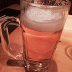 木々萌 - ランチビール150円。少し飲んでしまいました。