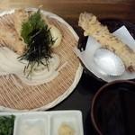瀬戸内製麺710 - とり玉天ざる&ちくわ天(H27.3.21)