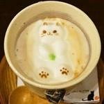 36178865 - 2015.3 ぷっくり猫ちゃんアートの3Dドリンク(550円)ソイオーレ
