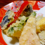 菊池温泉 清流荘 - 夕食の天ぷら♪