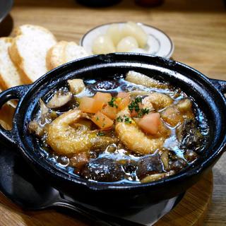 魚猫 大山店 - 芝えびと色々キノ子のオイル煮 ¥420