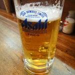 とり新 - 生ビール ¥500くらい?