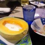 36191469 - メロンとジャガイモ冷スープ