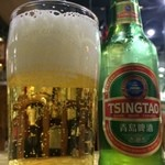 郷味屋 刀削麺 - 青島ビール