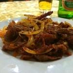 郷味屋 刀削麺 - ラム肉とクミン炒め