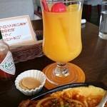 神野喫茶店 × JINNO COFFEE - ドリンクはオレンジジュースを選択