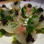 サンブーカ - 真鯛とブロッコリーの冷製