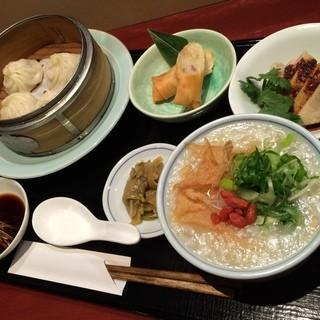 ◆◇新登場の中国粥ヘルシー御膳1500円❗️◇◆