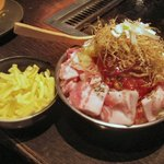 下町のてっぱん焼だるまや - 豚トマトチーズもんじゃ(1207円)