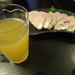 36206171 - 南信州ビールアップルホップと塩豚です。