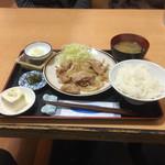 福徳食堂 - 生姜焼き定食¥810