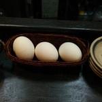 麺屋 婆娑羅 - 無料ゆで玉子