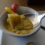 グルテンフリーCafé RiceTerrace かまくら - カレープレート(田んぼのパン付き)のルーアップ