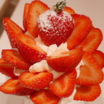 果実園 - あまおういちごのパフェ