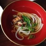サノワ サロンドテ - 集合写真は見づらいので、穴子の温麺アップ