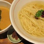 麺と心 7 - 《3月限定雲丹白湯第2弾》       雲丹白湯のつけそば ~帆立出汁の浸し麺style~