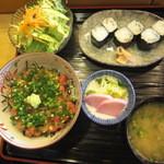 旭寿司 - 旭寿司 ねぎとろ丼セット
