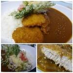 マテリア - ルーは適度な辛味で美味しいですね。 カレーと天ぷらの組み合わせは初めてでございます。(^^ゞ