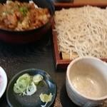 36225265 - かき揚げ煮丼と盛りそばセット¥980