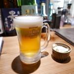 炭火串焼つじや - 生ビール